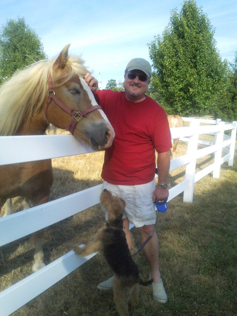 rob velvet with horse